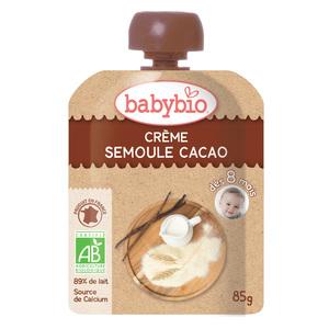 Gourde Crème Semoule Cacao bio 4 x 85 g BABYBIO