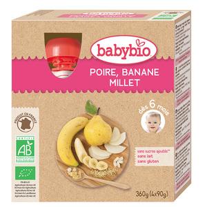 Gourdes Poire Banane Millet Bio BABYBIO