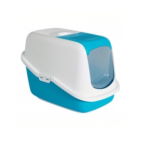 Bac à litière plastique bleu 56 x 39 x 38,5 cm 257647