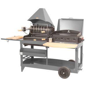 Plancha / Barbecue mixte Mendy Alde gris