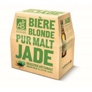 Biere blonde pur malt. Le pack de 6x25cl LA JADE