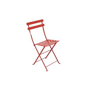 Chaise pliante d'extérieur couleur capucine