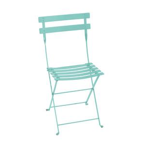 Chaise pliante d'extérieur couleur bleu lagune