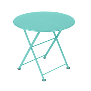 Table basse en acier couleur Bleu lagune 259016
