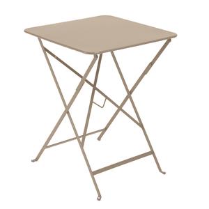Table pliante carrée couleur muscade 57 x 57 x 74 cm 259018