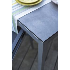 Plateau fin rectangulaire en HPL aspect ciment 200x100x1,3 cm