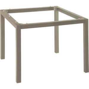 Pieds de table en aluminium coloris taupe de 90 x 90 x 72 cm 259105