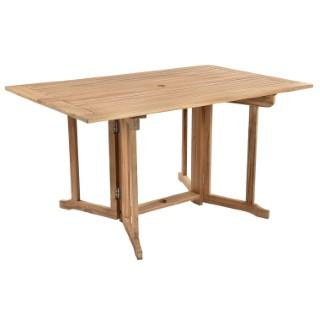 Table en teck rabattable COSTA 140 x 90 x 74 cm
