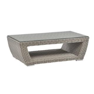 Table basse avec plateau verre ALTEA