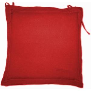 Galette d'assise rouge en polyester 40 x 40 cm 259742