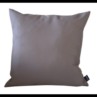 Coussin polyester taupe 40x40 cm