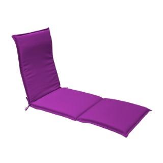 Coussin pour bain de soleil en polyester violet - 190 x 60 cm 259754