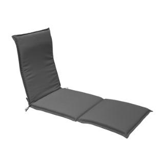 Coussin pour bain de soleil en polyester gris - 190 x 60 cm 259755