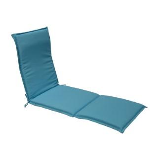 Coussin bain de soleil polyester bleu GARDEN