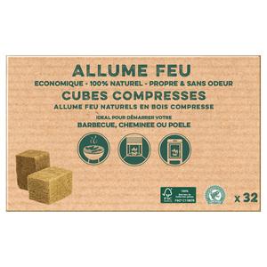 Cubes de bois compressé en boite de 32 260337