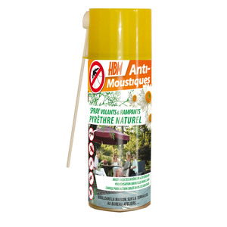 Spray Pyrèthre Naturel avec Canule pour Volants & Rampants 250 ml 260380