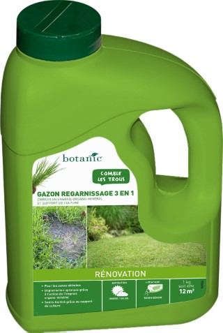 Gazon Regarnissage 3 en 1 botanic® 1kg