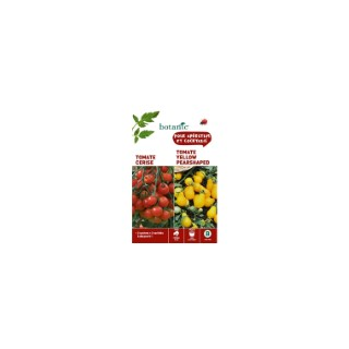 Tomate cerise rouge  +  tomate yellow pearshaped Duo potagere 261360
