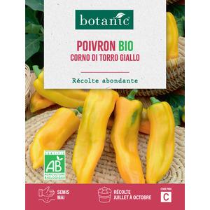 Poivron corno di torro jaune bio BIO 261422