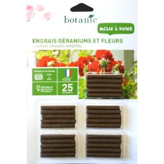 Engrais géraniums et fleurs  en bâtonnet (25 unités)