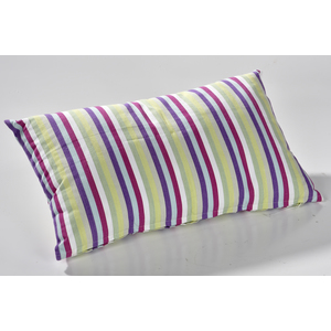 Coussin rectangulaire rayure Pastel