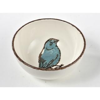 Bol + décor oiseau bleu