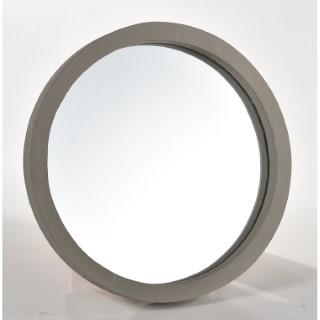 Miroir ciment rond