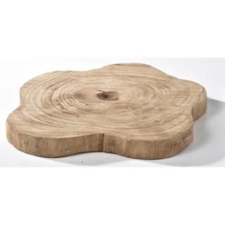 assiette deco en bois