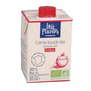 Crème liquide entière 20 cl LAIT PLAISIRS