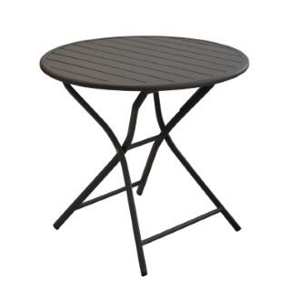 Table MAX ronde aluminium grise D.80 cm