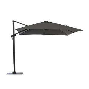 Parasol déporté à manivelle carré 2,5 m gris