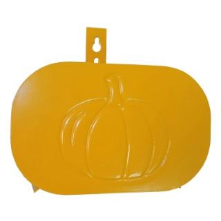 Support tuyau métal mural citrouille orange 262872
