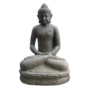 Statue de jardin Bouddha assis H 20 cm 263283