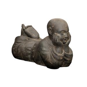 Statue de jardin Moine couché H 40 cm 263293