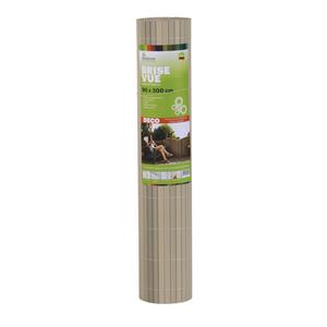 Brise-vue Rugen en PVC  gris mélèze 90 x 300 cm
