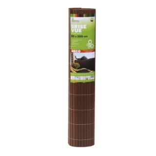 Brise-vue Rugen en PVC noyer 90 x 300 cm