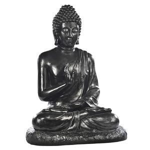Statue de jardin Bouddha assis en béton coulé H 80 cm 263342