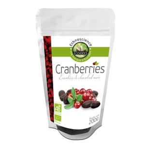 Cranberries au chocolot noir bio.200 g ETHNOSCIENCE