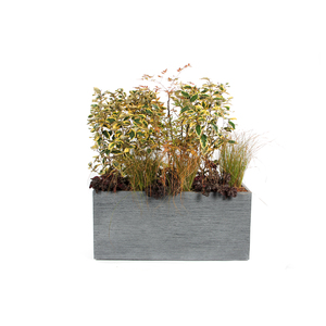 Bac rectangle STREAM XXL S/2 anthracite H.43 cm 263573