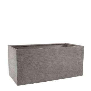 Bac rectangle STREAM XXL S/2 gris clair H.43 cm