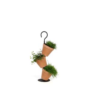 Kit 3 pots DAISY à suspendre terre cuite H.53,5 cm