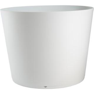 Pot TOKYO blanc modulable avec soucoupe 80x57,5 cm