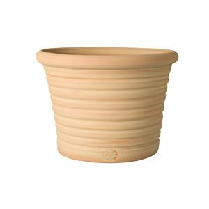 Pot Cocio Liso strié en terre cuite D53x H37