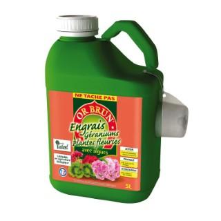 Engrais liquide géraniums et plantes fleuries 5 L