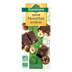 Chocolat noir noisettes entières BONNETERRE