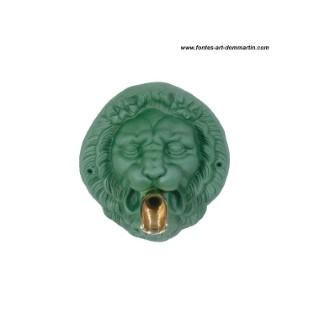 Mascaron tête de lion de couleur verte avec bec verseur - ø 27 cm 268874