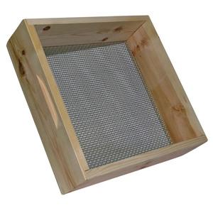 Tamis à terre bois et acier 44x44 cm - maille 6 mm 858427
