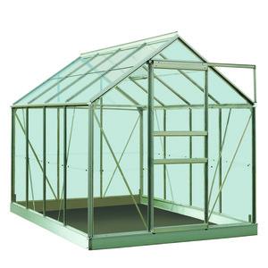 Serre verre 5 m² en aluminium 275333