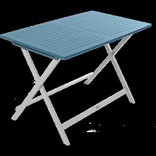 Table de jardin pliante en acacia couleur muscade