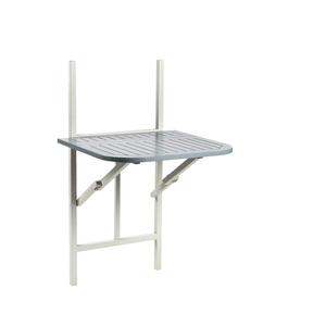 Table pliante balcon muscade/gris - 2 personnes